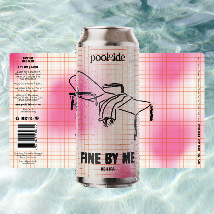 FINE BY ME 7.0% DDH IPA by POOLSIDE