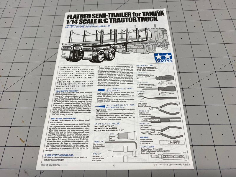 Manual - Tamiya Flatbed Trailer