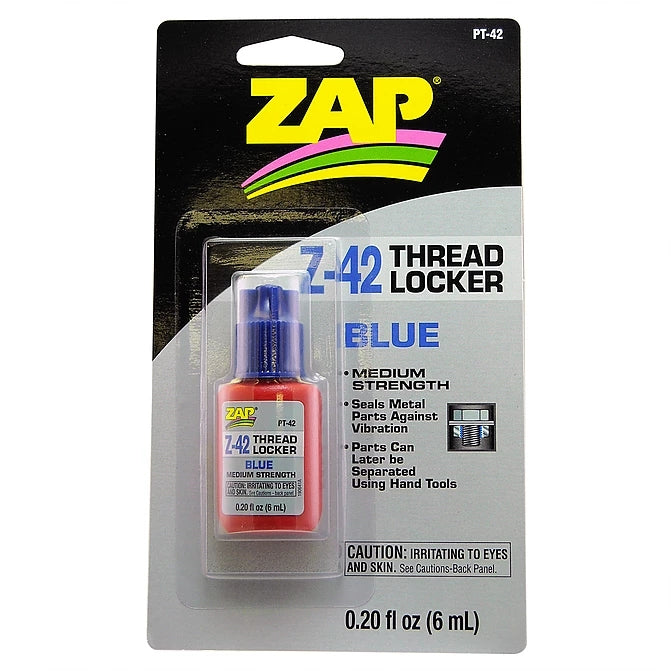 Zap Z-42 Blue Thread Locker 0.2oz Bottle