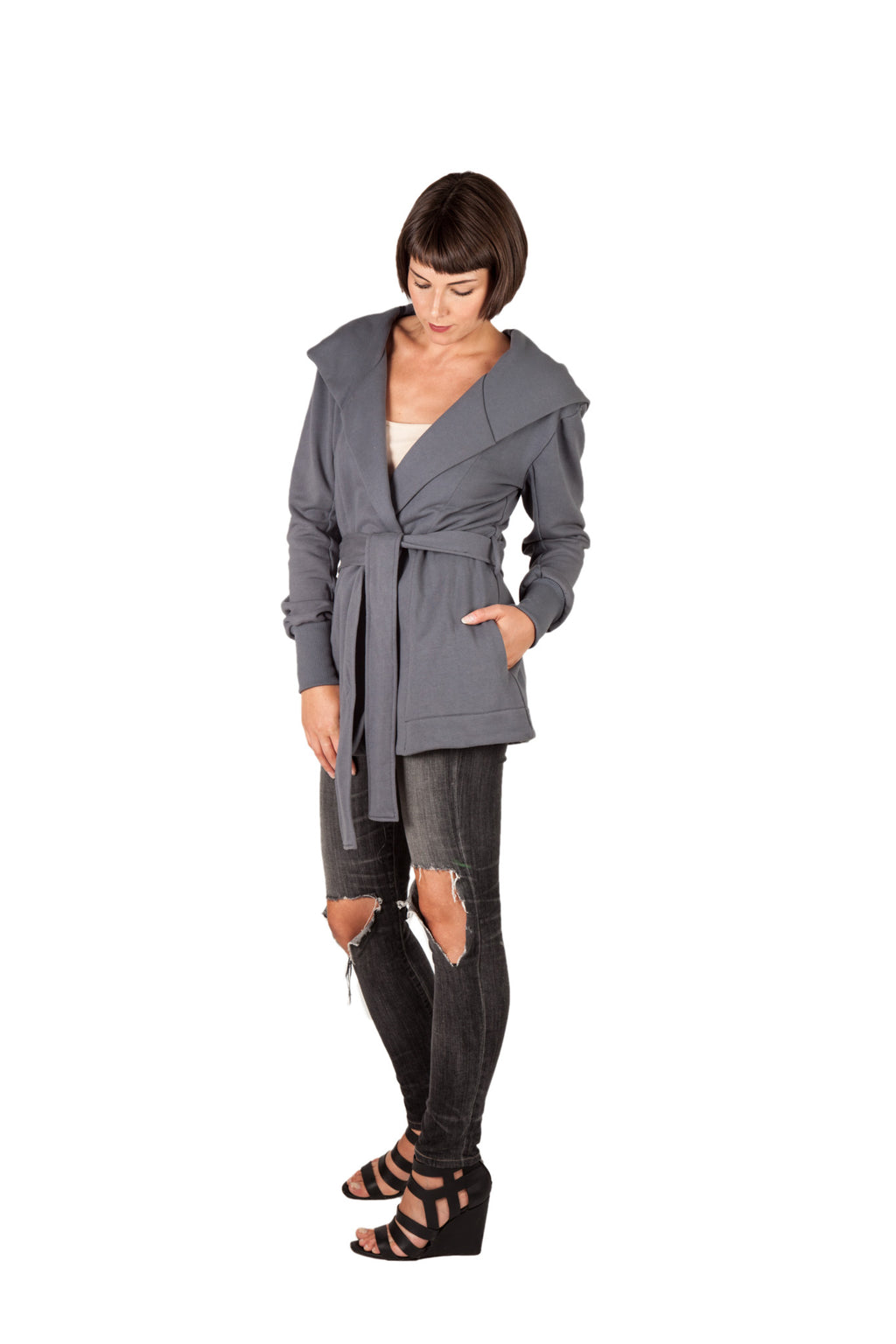 Hooded Wrap - Grey