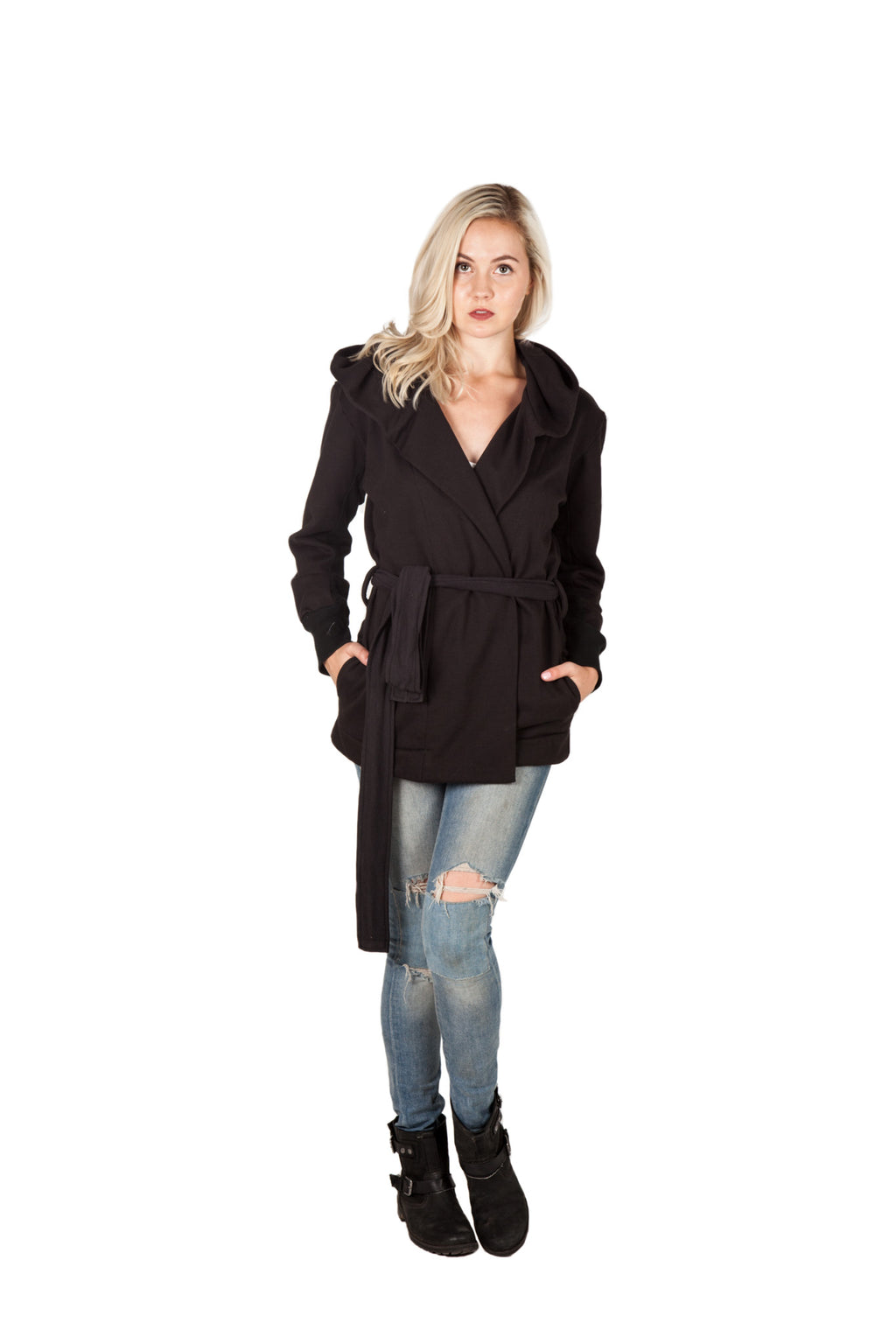 Hooded Wrap - Black