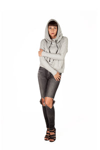 Funnel Neck Sweatshirt - Grey