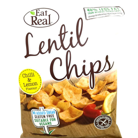 Eat Real linsechips med chili og citron