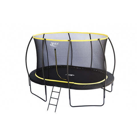 9 x 13ft Garden Oval Trampoline With Enclosure
