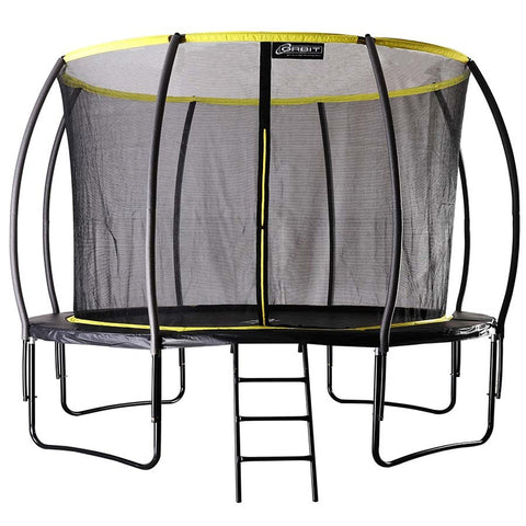 12ft Garden Trampoline With Enclosure