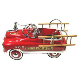 Vintage 1950's Fire Engine Classic Metal Pedal Car