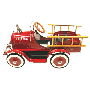 Vintage 1920's Classic Fire Engine Pedal Car