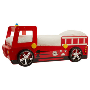 Kids Red Fire Engine Theme Bed