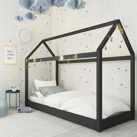 Fun House Frame Children's Novelty Bed in Black