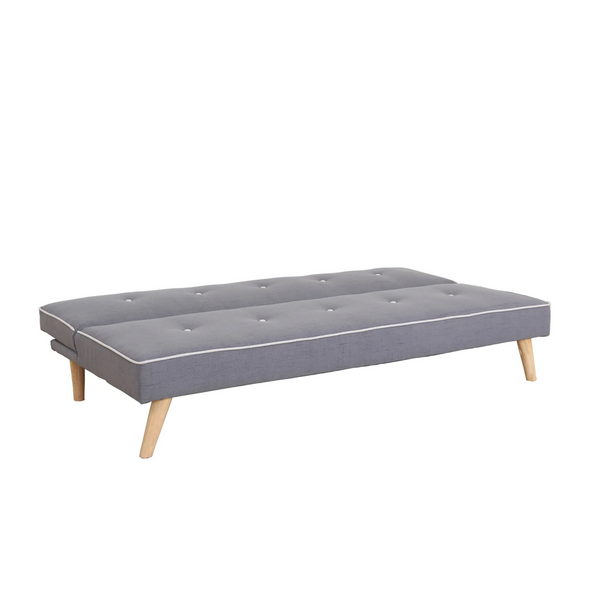PKR Grey Linen Sofa Bed