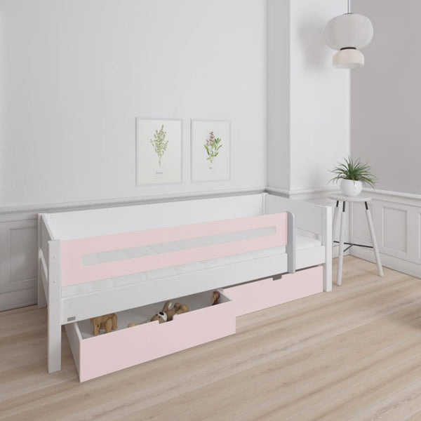 Dane Midsleeper Bed with Storage Drawers in Rose Pink