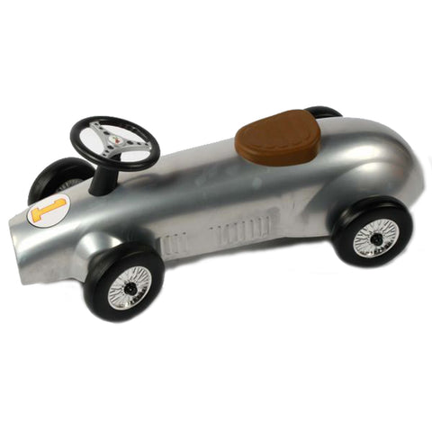 Retro Racer Metal Foot To Floor Ride On Speedster