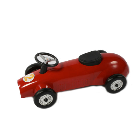 Retro Racer Metal Foot To Floor Ride On Speedster Red