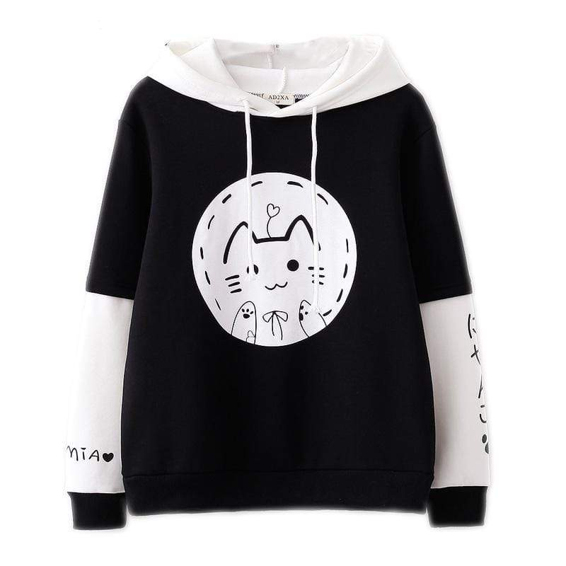 Sweat Kawaii chat fond rond