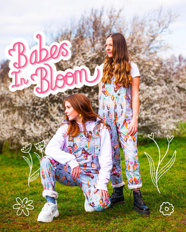 Babes In Bloom Dungarees