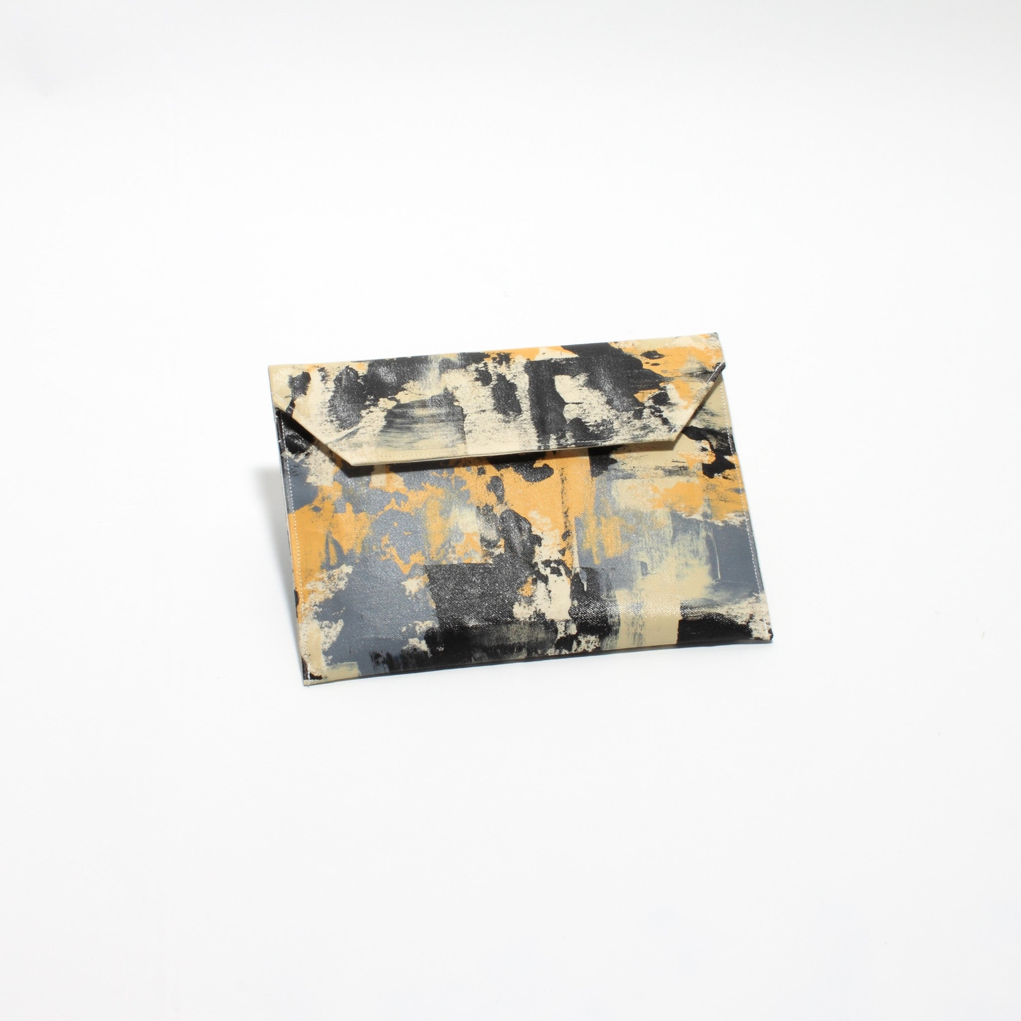 Hand Painted Big Neutral Clutch