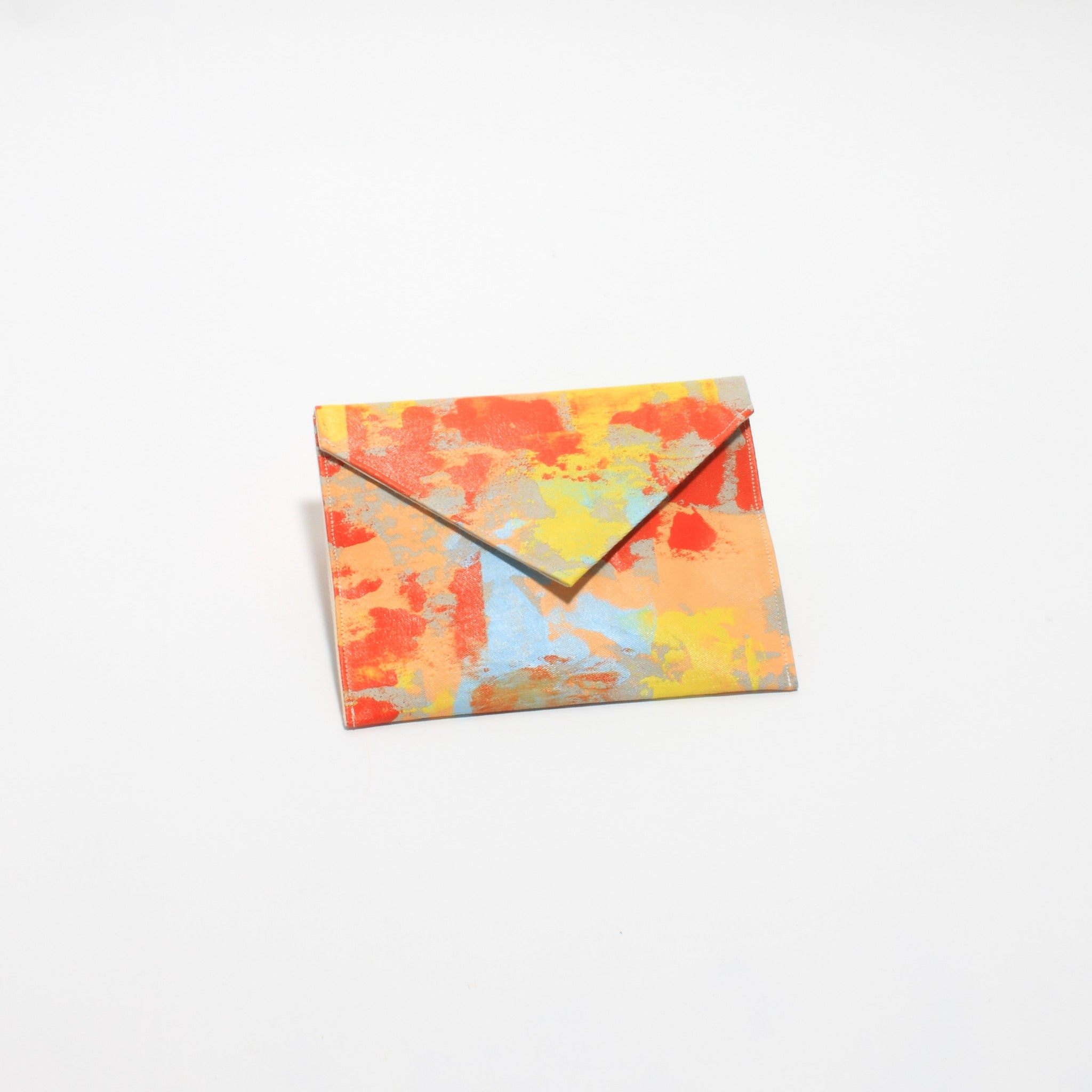 Hand Painted Small Orange Clutch