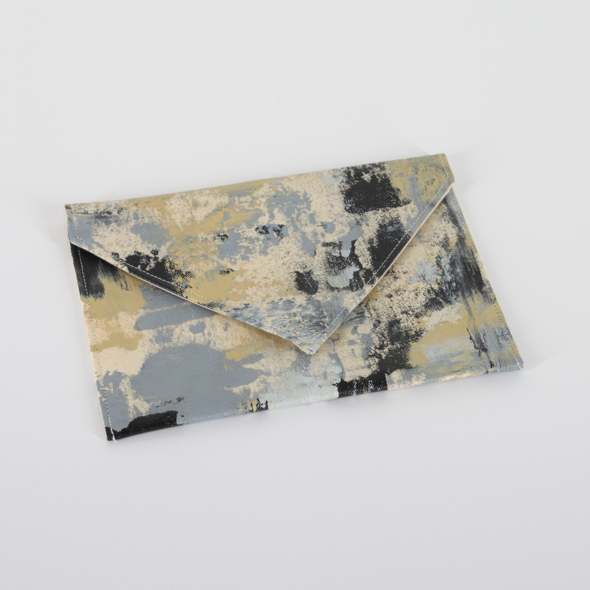 Hand Painted Small Neutral Clutch