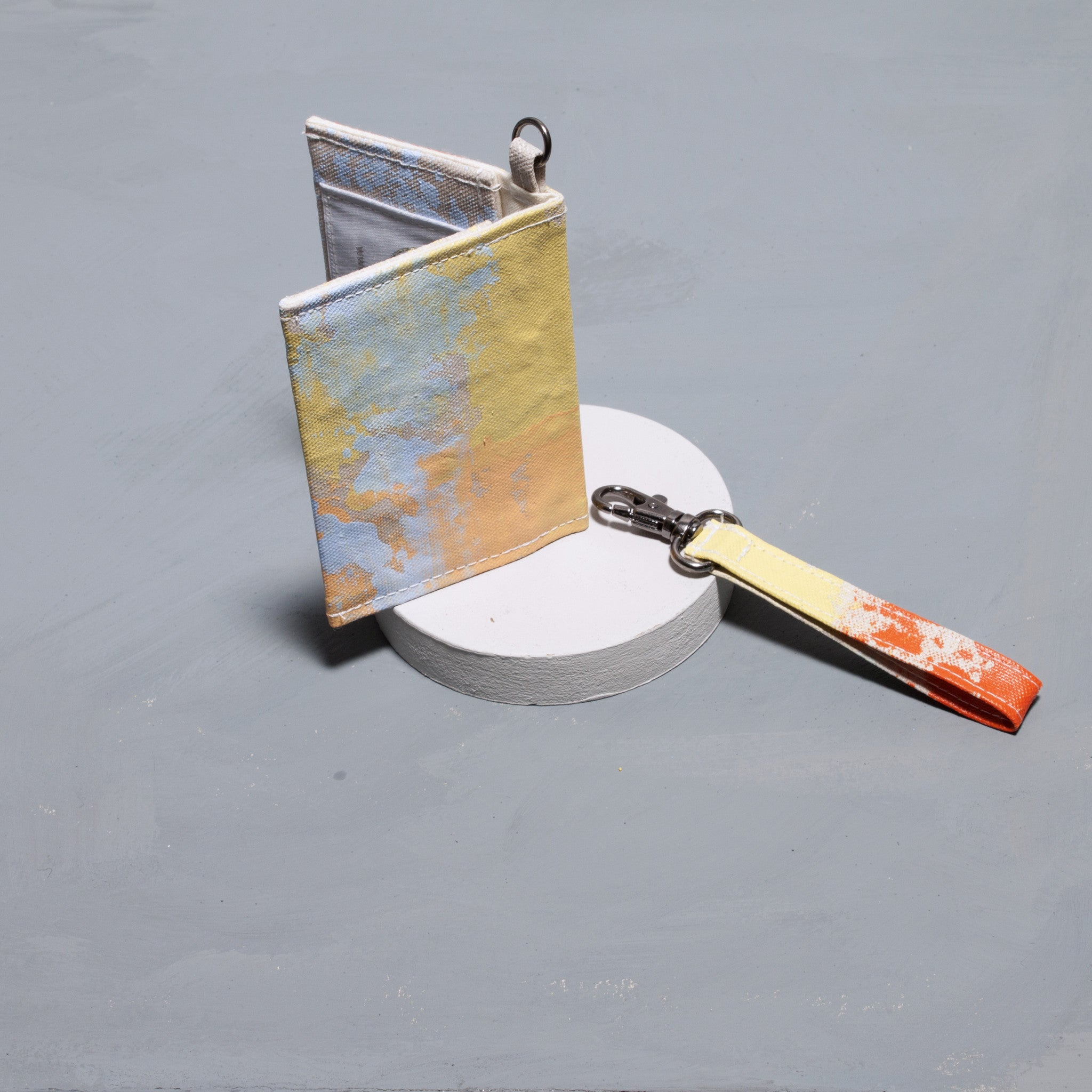 Hand Painted Orange Card Holder