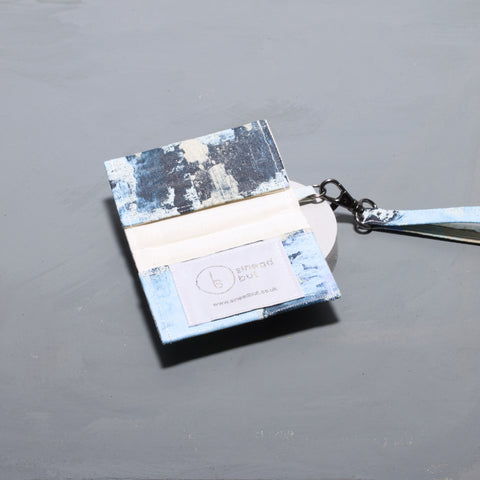 Hand Painted Pure Blue Card Holder