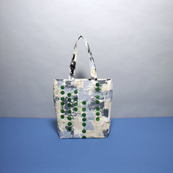Neutral Layered Hand Painted Bag