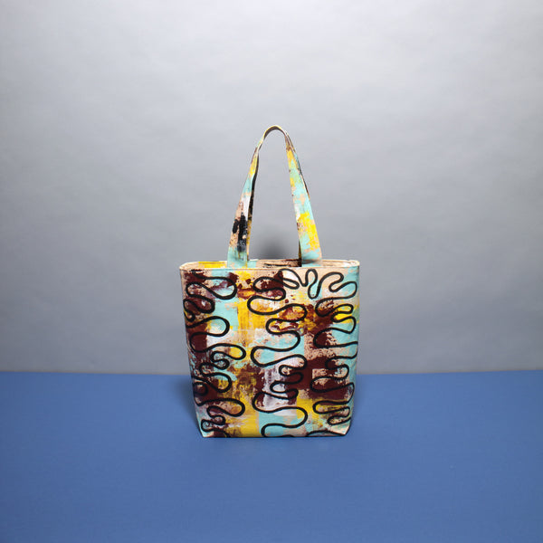 Multicoloured Layered Hand Painted Bag