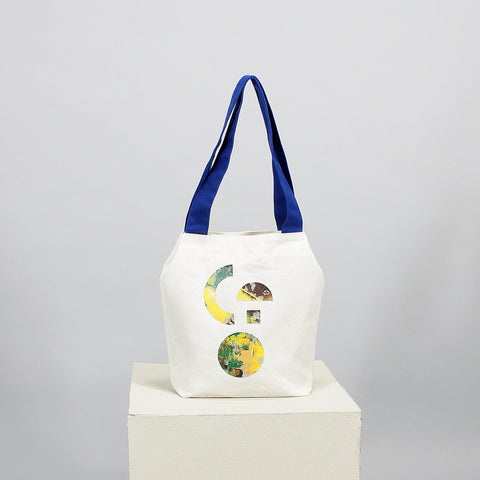 'Cut out' signature tote - white