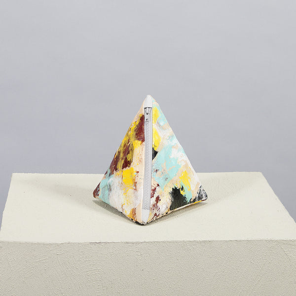 Hand Painted Multicoloured Pyramid Clutch