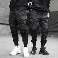 2020 Hip Hop Boy Multi-pocket Elastic Waist Design