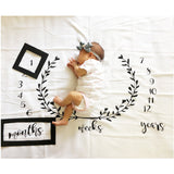 Monthly Growth Milestone Blanket/ photography props Background Cloth