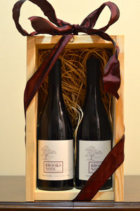 2 Bottle Gift Box of Brooks Note Pinot Noir - Shipping Outside California