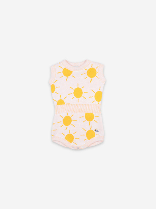 BOBO CHOSES - Sun Jaquard Knitted Playsuit