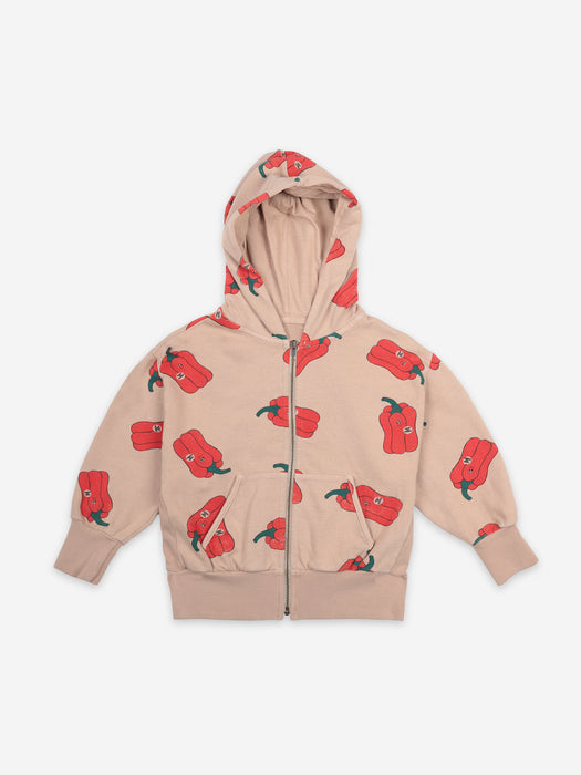 BOBO CHOSES - Vote for Pepper all over zipped hoodie