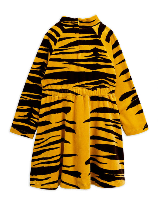 MINI RODINI Tiger velours dress