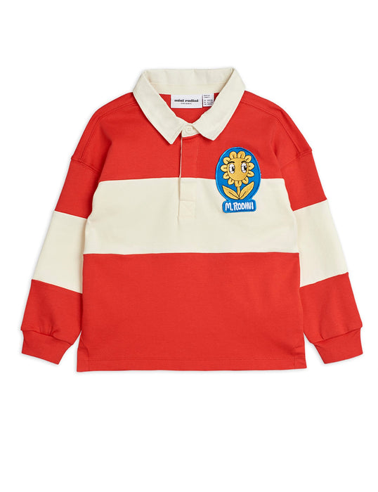 MINI RODINI Rugby shirt red