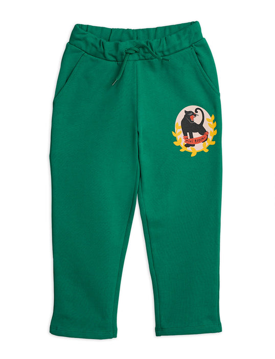 MINI RODINI Baby Panther badge sweatpants