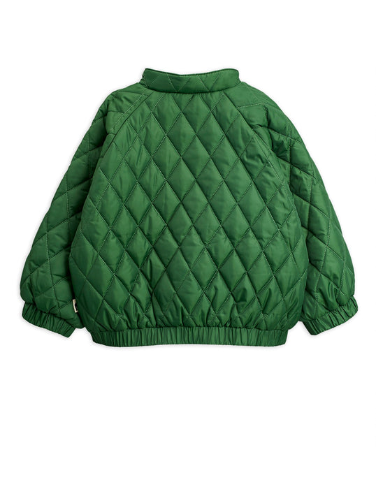 MINI RODINI Diamond quilted jacket green