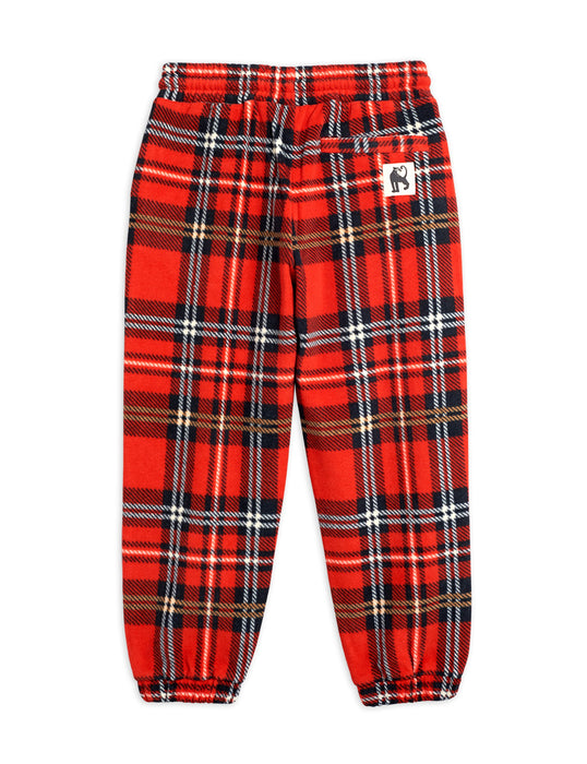 MINI RODINI Fleece check trousers