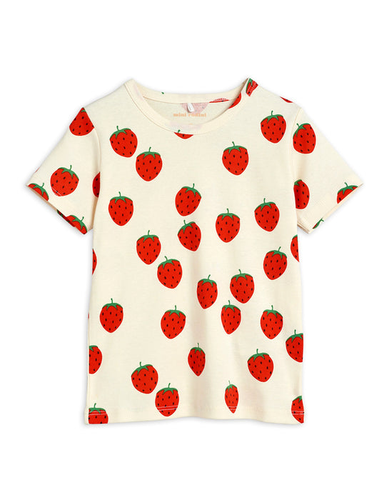 MINI RODINI - Strawberry aop Tee