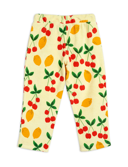 MINI RODINI - Cherry Lemonade Terry Trousers -X-