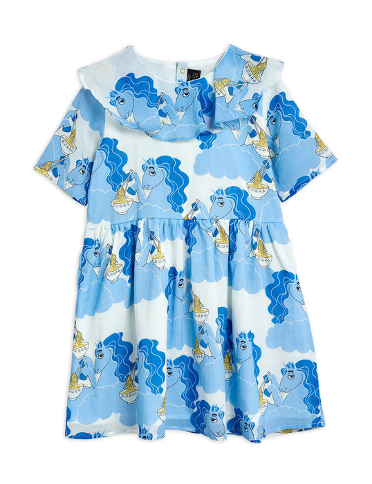 MINI RODINI - Unicorn Noodles Woven Dress