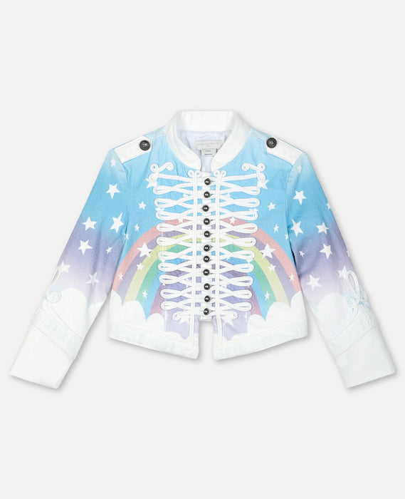 STELLA MCCARTNEY KIDS Magic Rainbow Denim Jacket
