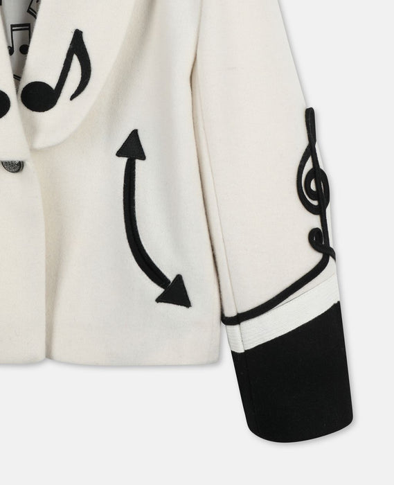 STELLA MCCARTNEY KIDS Music Notes Wool Military Jacket