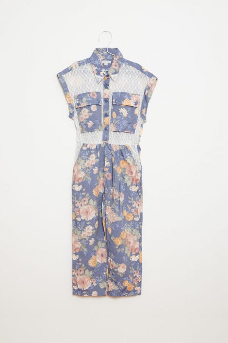FISH AND KIDS Flowers jumpsuit