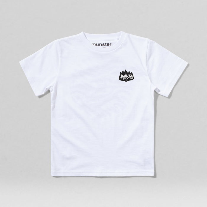 MUNSTERKIDS On fire tee white