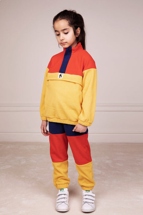 MINI RODINI Fleece panel trousers