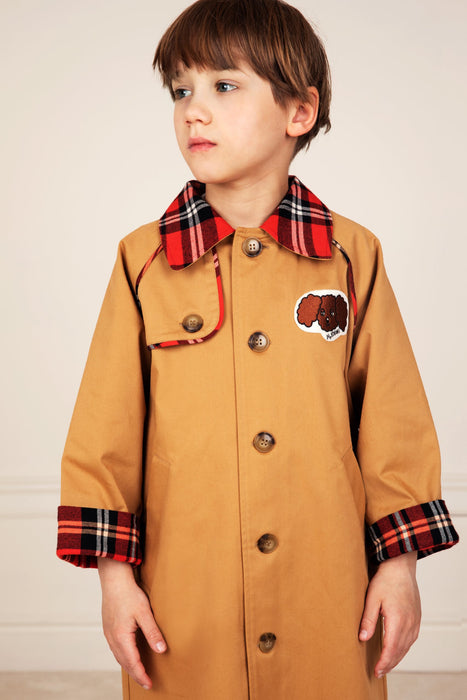 MINI RODINI Twill trenchcoat
