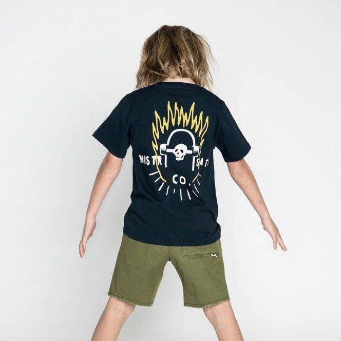 MUNSTERKIDS Skate buddy midnight tee