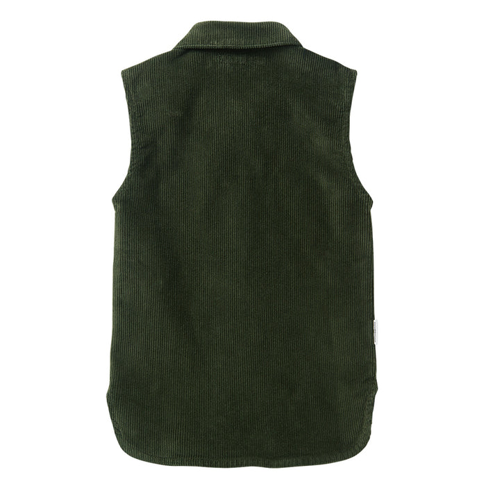 MINGO Corduroy sleeveless shirt forest night