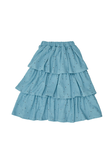THE CAMPAMENTO Blue Dots Skirt